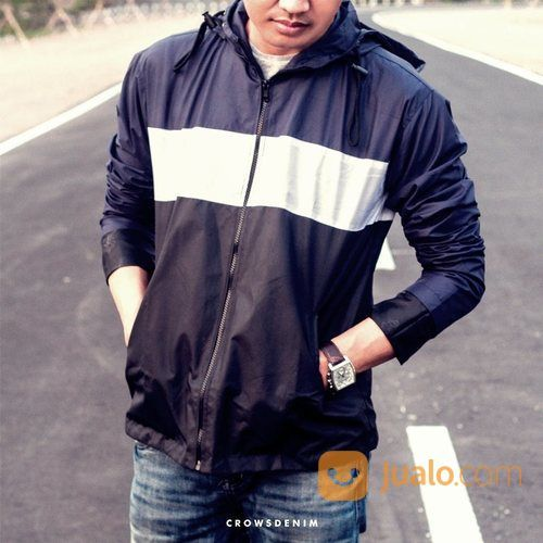 Jacket hoodie parachu pria 23528471