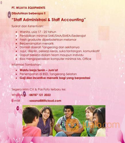 Lowongan Kerja Staff Administrasi Accounting Tangerang Selatan Jualo