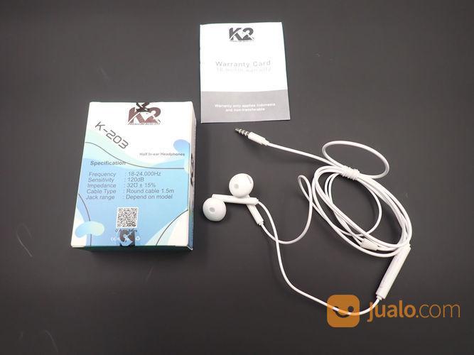Headset k2 premium qu aksesoris handphone dan tablet lainnya 23544487