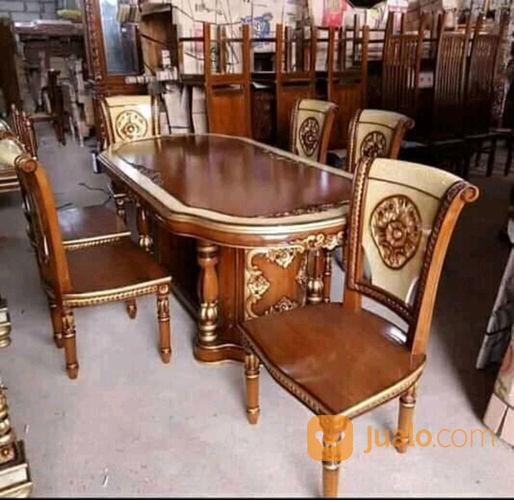 Meja makan ukir jepar kebutuhan rumah tangga furniture 23611203