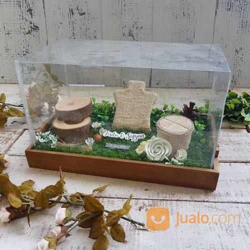 Tempat Cincin / Ring Box / Kotak Cincin Nikah Tray Bambu (23630411) di Kota Surabaya