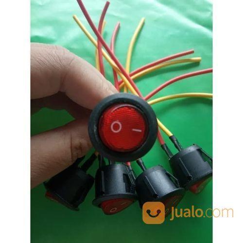 Saklar Switch Tombol BULAT On Off LED Motor Mobil Lampu UNIVERSAL (23659351) di Kota Surakarta