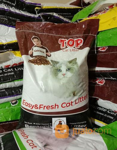 Pasir Kucing Top Cat Litter Bentonite 20 Kg Gumpal Wangi 20kg Tangerang Selatan Jualo
