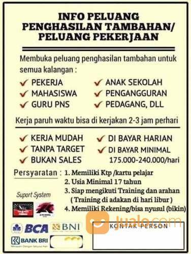 Info Part Time Untuk Mahasiswa Pelajar Dan Ibu Rumah Tangga Daerah Bandung Dsk Bandung Jualo