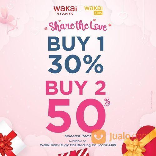 Wakai Promo Buy 1 Get 30% - Buy 2 Get 50%, Khusus TSM Bandung! (23740175) di Kab. Bandung