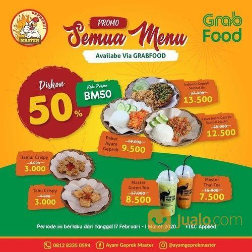Ayam Geprek Master Promo GrabFood, Semua Menu Diskon 50%! (23746167) di Kota Jakarta Selatan