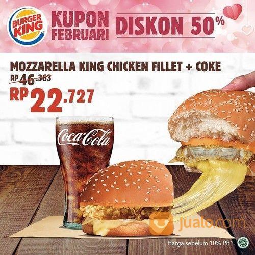 Burger King Promo Kupon Februari, Diskon 50%! (23746291) di Kota Jakarta Selatan