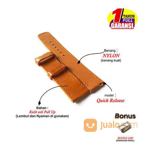 Tali Jam Tangan Kulit Asli Model Quick Release Size 20 Mm