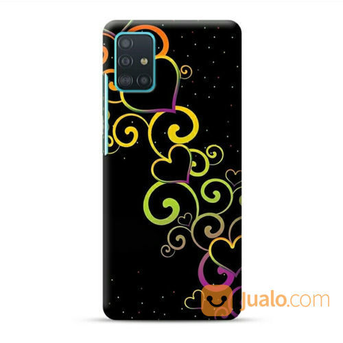 Colorful Hearts Samsung Galaxy A51 Custom Hard Case (23813343) di Kota Bekasi