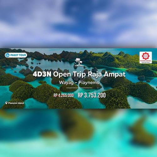 Blibli Promo Open Trip ke Raja Ampat, Hemat Rp 500.000! (23870815) di Kota Jakarta Selatan