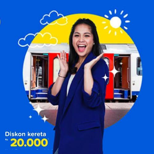 Tiket.com Promo Tiket Kereta Diskon Rp 20.000! (23888863) di Kota Jakarta Selatan