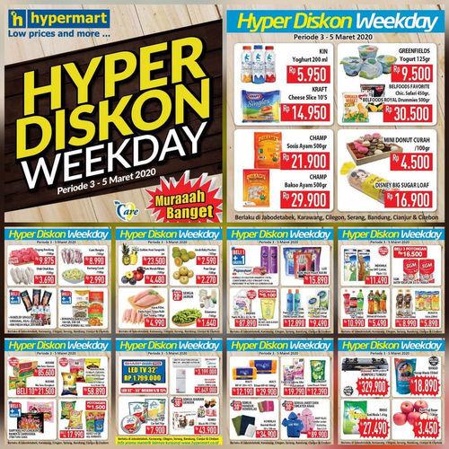 Katalog Promo Hyper Diskon Weekday Hypermart Periode 3 5 Maret 2020 Jakarta Selatan Jualo