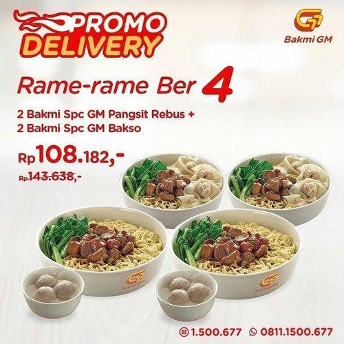 Bakmi GM Promo Delivery, Makan Rame-Rame Mulai dari Rp. 100 Ribu + Free Ongkir! (23902119) di Kota Jakarta Selatan
