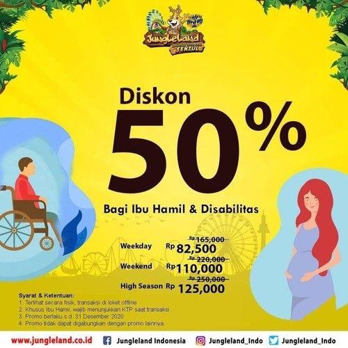 Jungleland Promo Ibu Hamil Dan Disabilitas, Diskon 50% (23917635) di Kota Bogor