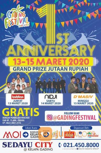 Gading Festival 1st Anniversary With KAHITNA, NIDJI, D'MASIV (23925079) di Kota Jakarta Utara
