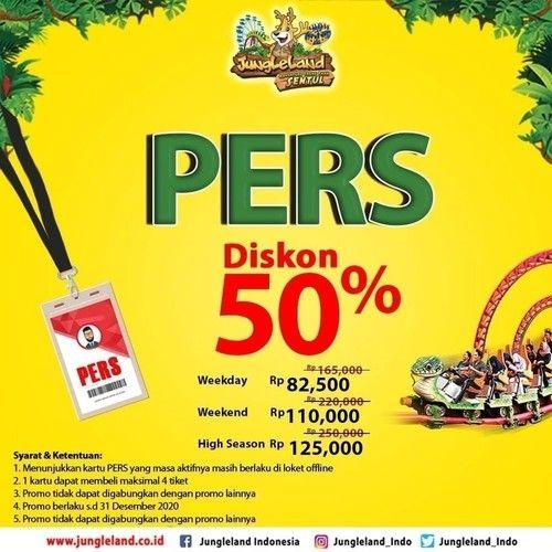 Jungleland Promo Spesial Kartu Pers, Diskon 50%! (23931431) di Kota Jakarta Selatan
