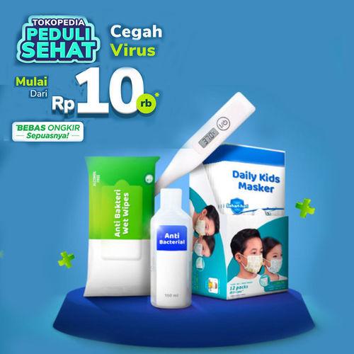 Tokopedia Promo Peduli Sehat Cegah Virus Berbahaya Mulai Dari Rp 10.000 + FREE Ongkir! (23937599) di Kota Jakarta Selatan