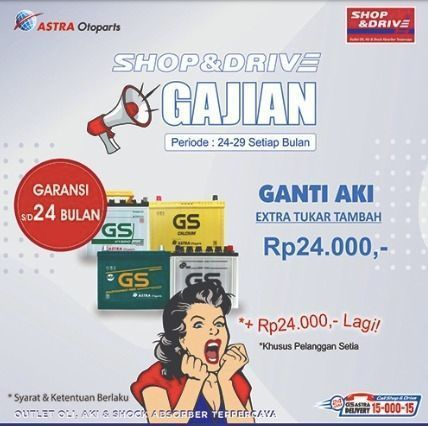 Promo Gajian Shop&Drive! (24011791) di Kota Jakarta Selatan