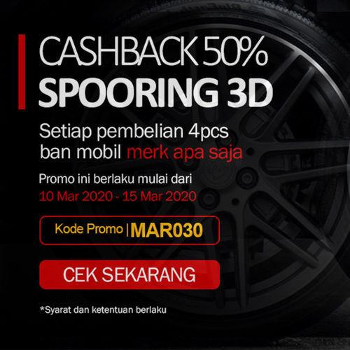 Promo Spooring 3D Cashback 50% (24013075) di Kota Jakarta Selatan