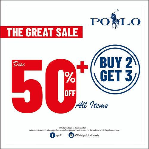 Polo Ralph Lauren Promo Belanja Hemat, Diskon 50% & Beli 2 Gratis 1 (24019163) di Kota Jakarta Selatan