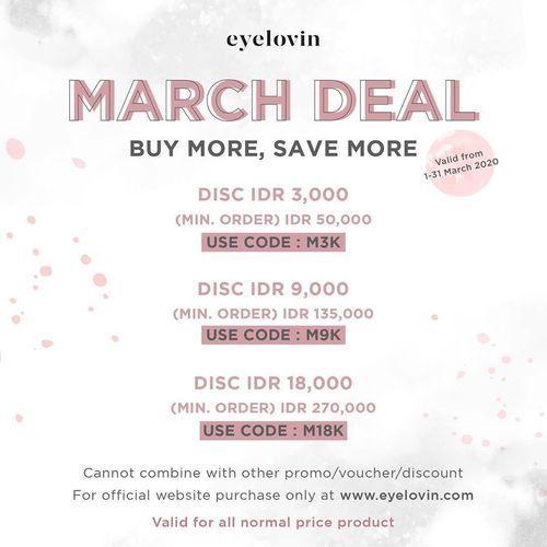 Eyelovin March Deal Promo Code for Contact Lens and Eyewear (24035743) di Kota Jakarta Selatan