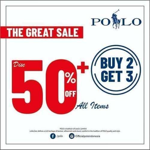 Polo Diskon s/d 50% Promo Buy 2 Get 3 (24037595) di Kota Jakarta Selatan