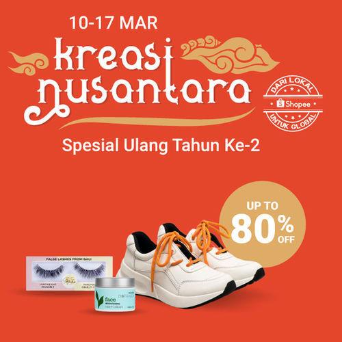 Shopee Promo Produk Kreasi Nusantara Spesial HUT Ke-2 Disc Up To 80% (24048455) di Kota Jakarta Selatan