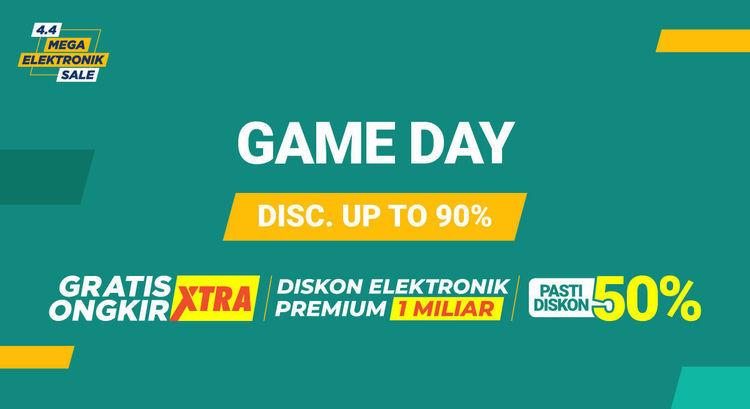 Shopee Game Day Diskon Up to 90% Gratis Ongkir (24048627) di