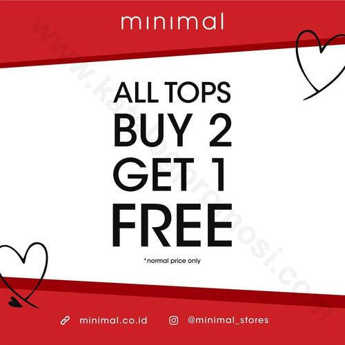 Minimal Promo All Tops Buy 2 Get 1 Free (24049599) di Kota Jakarta Selatan