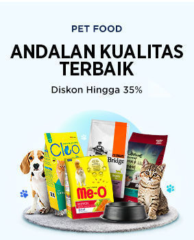 Elevenia Diskon Hingga 35% Untuk Katalog Pet Food Kualitas Terbaik (24049659) di Kota Jakarta Selatan