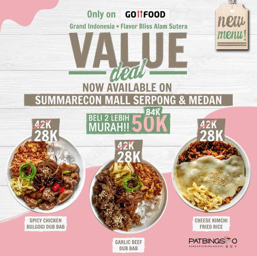 Patbingsoo Promo Gofood Value Deals Beli 2 Cuma Rp 50 000 Jakarta Selatan Jualo
