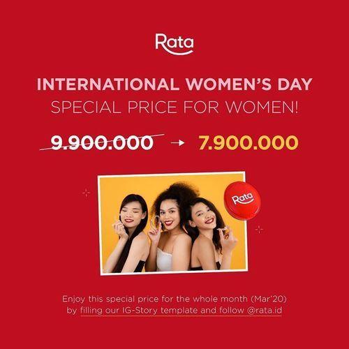 Rata International Women's Day Diskon Jadi Rp 7,9 Juta! (24086803) di Kota Jakarta Selatan