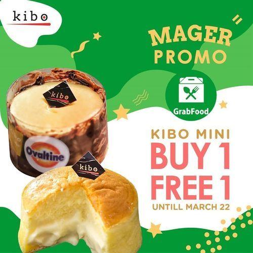 Kibo Cheese Mager Promo Buy 1 Free 1 untuk Setiap Pemesanan Kibo Mini Melalui Grab Food (24092835) di Kota Jakarta Selatan