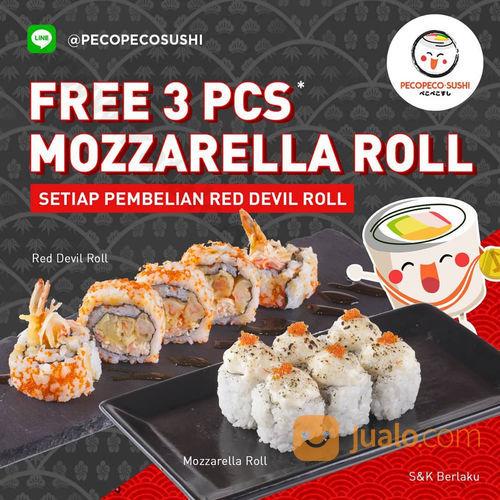 Peco Peco Sushi Promo Free 3 Pcs (24111699) di Kota Malang