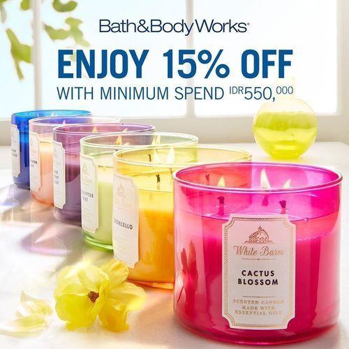 Bath & Body Works 15% Off (24112331) di Kota Jakarta Pusat