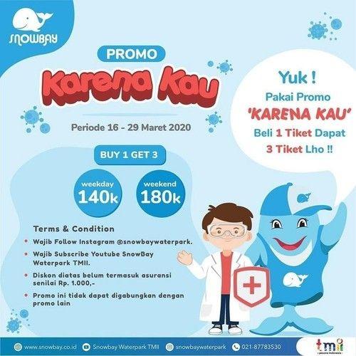 Snowbay Promo Beli 1 Tiket dapat 3 Tiket Follow Instagramnya! (24124139) di Kota Jakarta Selatan