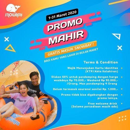 SnowBay Waterpark Promo Untuk Kamu yang lahir di Bulan Maret! (24124907) di Kota Jakarta Timur