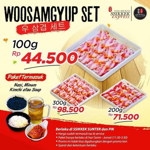 Ssikkek Promo Woosamgyup Set (24129151) di Kota Jakarta Utara