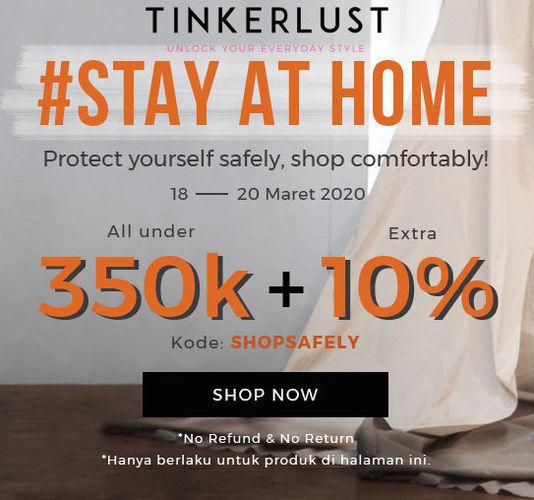Tinkerlust Promo Diskon Stay At Home Fashion Shop (24133095) di Kota Jakarta Selatan