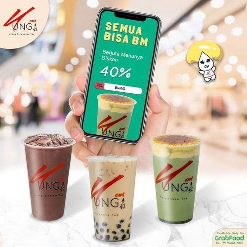 U Ung Cafe Promo Berjuta Menunya Diskon 40% Dengan Menggunakan GrabFood (24133591) di Kota Jakarta Selatan