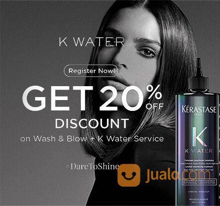 Kerastase K Water 20% Discount off untuk Wash and Blow + Service K Water (24133647) di Kota Jakarta Selatan