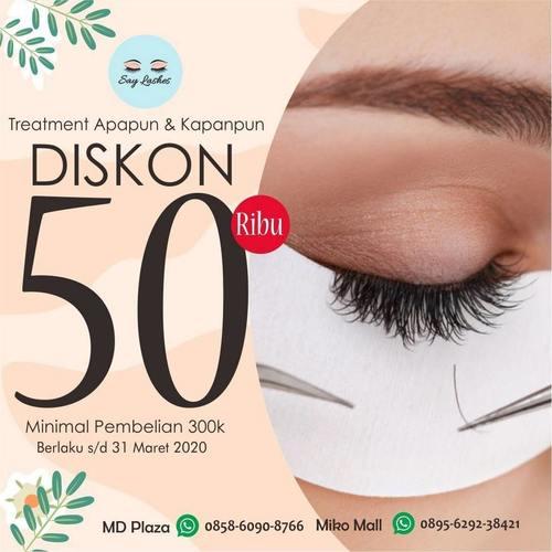 Say Lashes Eyelash Extension Treatment apapun Diskon Potongan 50.000 (24133763) di Kota Bandung