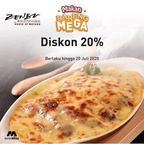 Zenbu Diskon 20% Dengan Bank Mega April 2020 (24140611) di Kota Jakarta Selatan