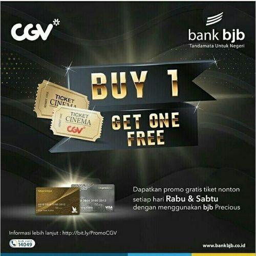 CGV Promo Diskon Bank BJB Beli 1 Gratis 1 (24141203) di Kota Jakarta Selatan
