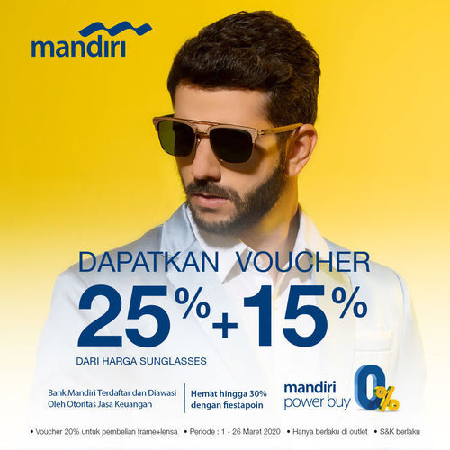 Optik Melawai Promo Mandiri 25% + 15% (24141303) di Kota Jakarta Selatan