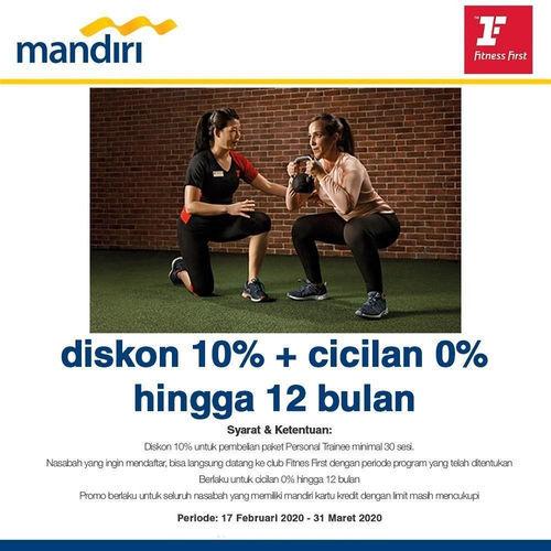 Fitness First Diskon 10% untuk Pemegang Kartu Mandiri (24144443) di Kota Jakarta Selatan