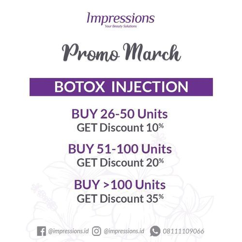 Impressions Promo March Botox Injection (24144987) di Kota Jakarta Selatan