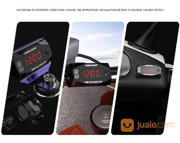 Voltmeter Jam 2 In 1 Keren 12V Malang Kota Gratis Antar (24154163) di Kota Malang