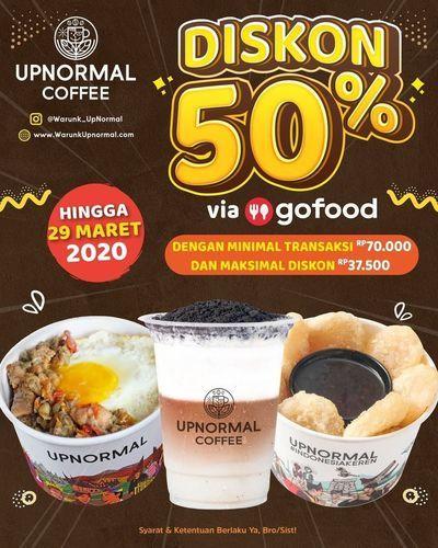 Warunk UpNormal Diskon 50% Via Gofood (24155147) di Kota Jakarta Selatan