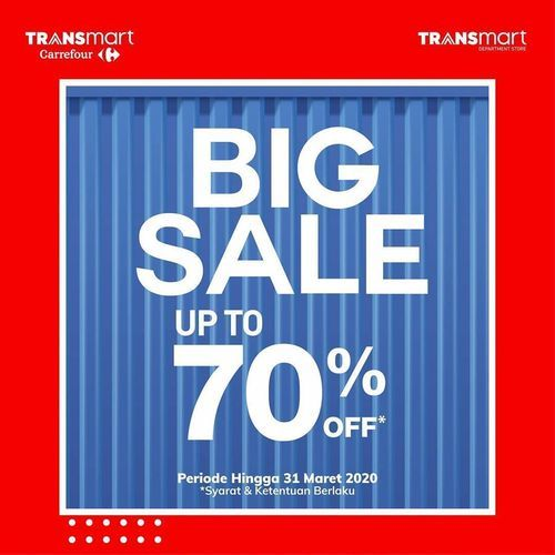 Transmart Carrefour Big Sale Up To 70% (24157187) di Kota Jakarta Selatan